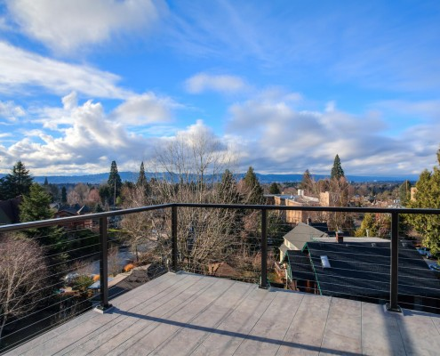Deck view – 6212 SE. Yamhill Portland Oregon