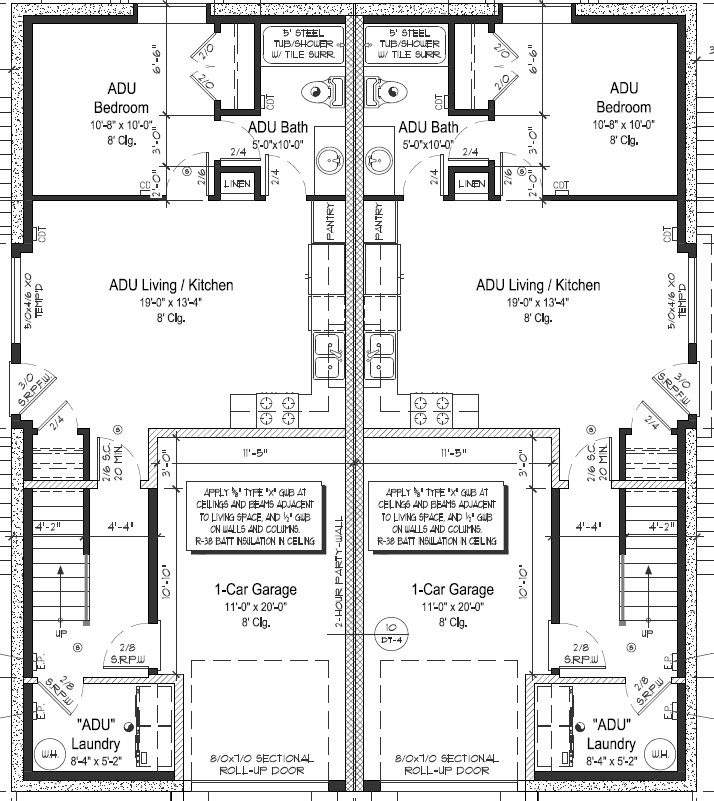 5433 ne 32 place portland oregon duplex 2564 sq ft 4 for Adu house plans